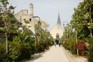 Allée Saint-Catherine à Fontevraud L'Abbaye